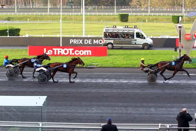 Photo d'arrivée de la course pmu PRIX DE MAUCOR à PAU le Mercredi 3 janvier 2018