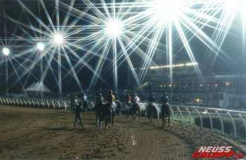 Photo neuss piste galop nocturne
