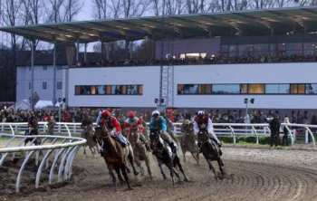 Photo Neuss Tribunes public piste galop