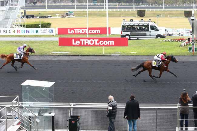 Photo d'arrivée de la course pmu PRIX DE LEZIGNAN à PARIS-VINCENNES le Lundi 30 janvier 2017