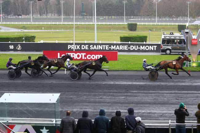 Arrivée quinté pmu PRIX DE SAINTE-MARIE-DU-MONT à PARIS-VINCENNES