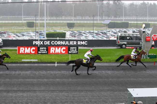 Arrivée quinté pmu PRIX DE CORNULIER - RMC à PARIS-VINCENNES