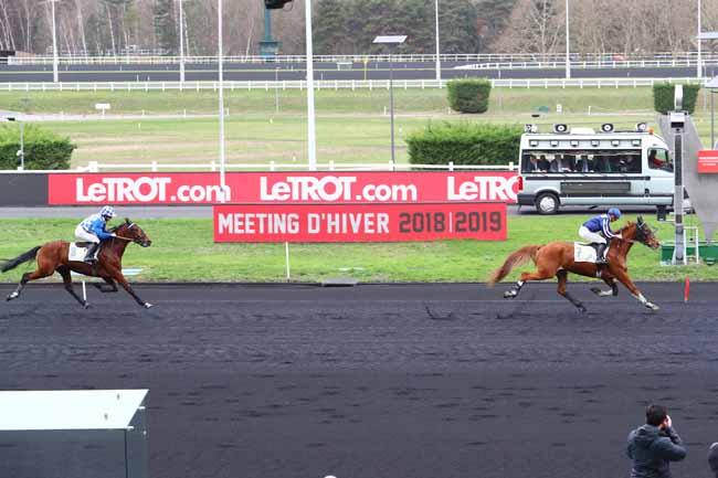 Photo d'arrivée de la course pmu PRIX DE MONTBELIARD à PARIS-VINCENNES le Mercredi 2 janvier 2019