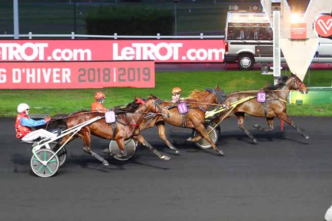 Photo d'arrivée de la course pmu PRIX DE MARVEJOLS à PARIS-VINCENNES le Vendredi 11 janvier 2019