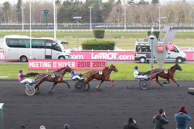 Photo d'arrivée de la course pmu PRIX DE BRIEY à PARIS-VINCENNES le Dimanche 3 février 2019