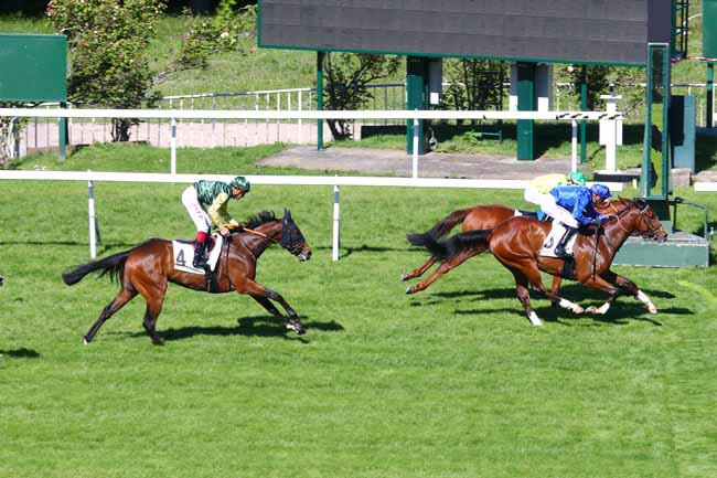 Photo d'arrivée de la course pmu PRIX DU HARAS DE LA CELLE-SAINT-CLOUD à SAINT-CLOUD le Lundi 13 mai 2019