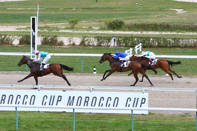 Photo d'arrivée de la course pmu MOROCCO CUP à DEAUVILLE le Jeudi 8 août 2019