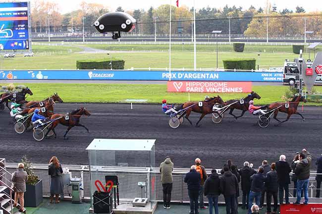 Photo d'arrivée de la course pmu PRIX D'ARGENTAN à PARIS-VINCENNES le Samedi 9 novembre 2019