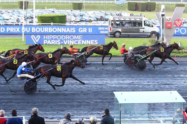 Photo d'arrivée de la course pmu GRAND PRIX DU BOURBONNAIS à PARIS-VINCENNES le Dimanche 8 décembre 2019
