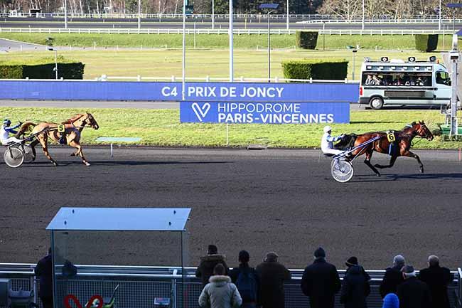 Photo d'arrivée de la course pmu PRIX DE JONCY à PARIS-VINCENNES le Lundi 17 février 2020