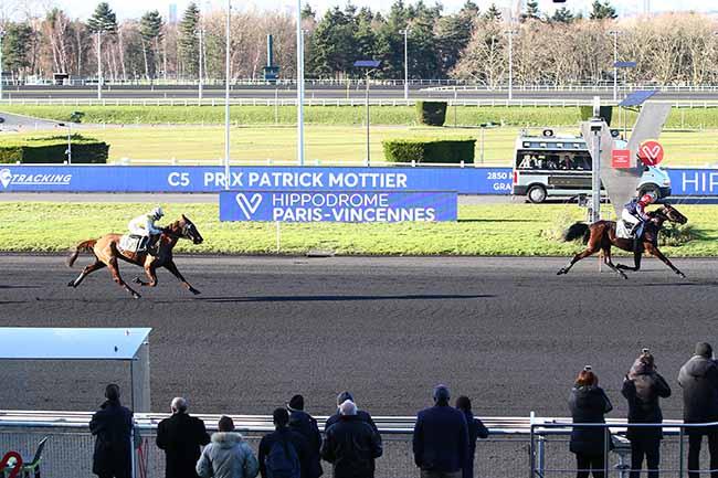 Photo d'arrivée de la course pmu PRIX PATRICK MOTTIER à PARIS-VINCENNES le Lundi 17 février 2020