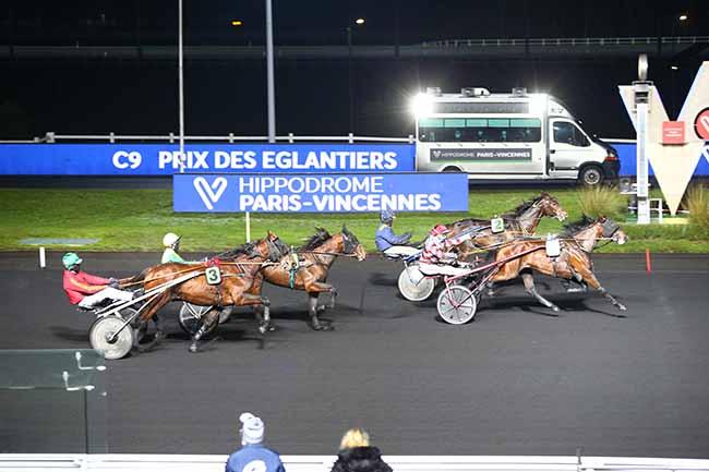 Photo d'arrivée de la course pmu PRIX DES EGLANTIERS à PARIS-VINCENNES le Samedi 2 janvier 2021