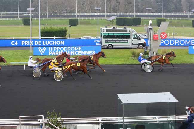 Photo d'arrivée de la course pmu PRIX DE LUCHON à PARIS-VINCENNES le Mardi 5 janvier 2021