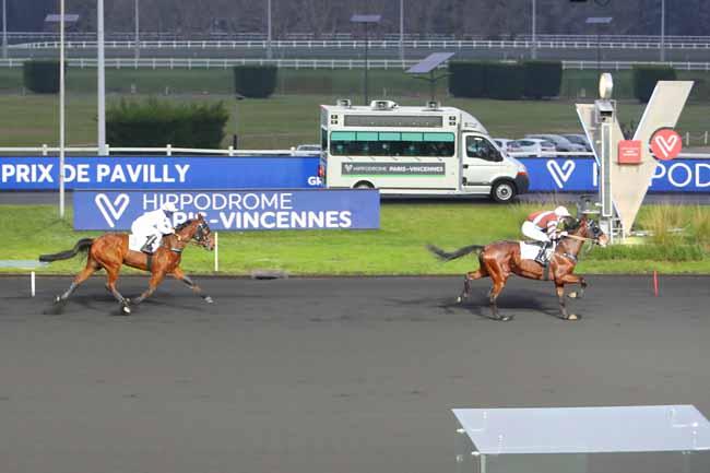 Photo d'arrivée de la course pmu PRIX DE PAVILLY à PARIS-VINCENNES le Mardi 5 janvier 2021