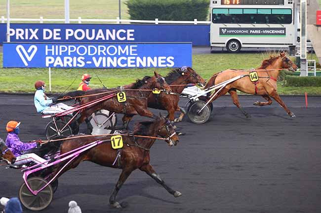 Photo d'arrivée de la course pmu PRIX DE POUANCE à PARIS-VINCENNES le Mercredi 6 janvier 2021
