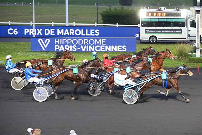 Photo d'arrivée de la course pmu PRIX DE MAROLLES à PARIS-VINCENNES le Mercredi 6 janvier 2021