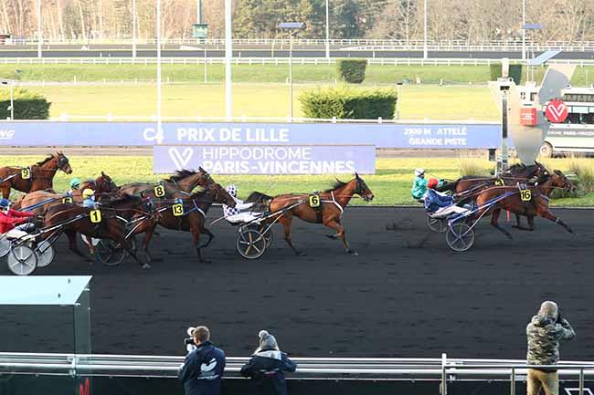 Photo d'arrivée de la course pmu PRIX DE LILLE à PARIS-VINCENNES le Dimanche 10 janvier 2021