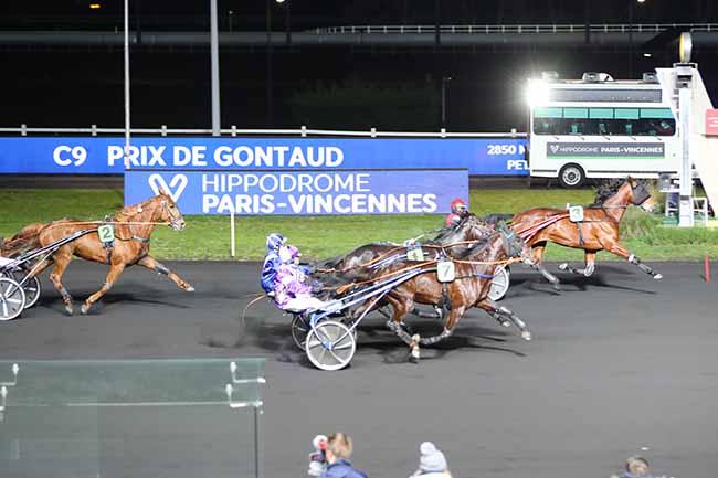 Photo d'arrivée de la course pmu PRIX DE GONTAUD à PARIS-VINCENNES le Dimanche 10 janvier 2021