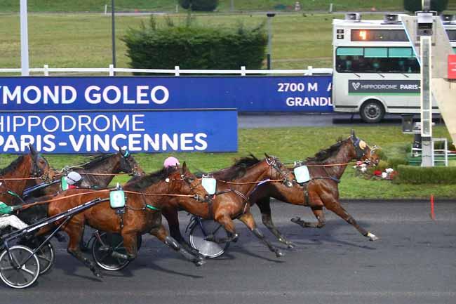 Photo d'arrivée de la course pmu PRIX RAYMOND GOLEO à PARIS-VINCENNES le Dimanche 7 février 2021