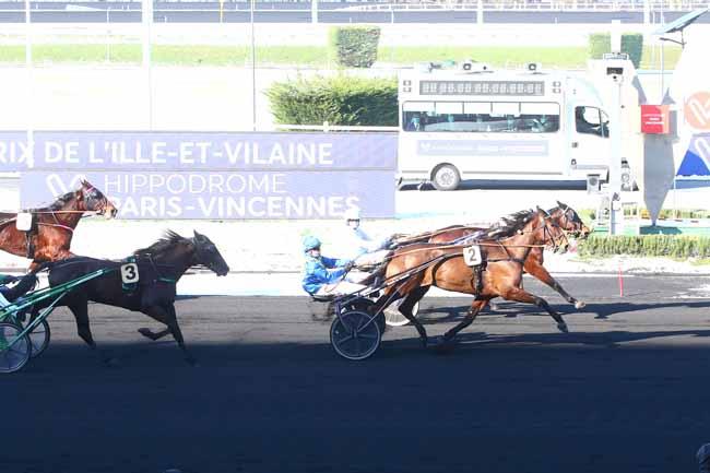 Arrivée quinté pmu PRIX DE L'ILLE-ET-VILAINE à PARIS-VINCENNES