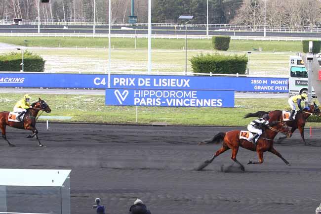 Photo d'arrivée de la course pmu PRIX DE LISIEUX à PARIS-VINCENNES le Samedi 13 février 2021