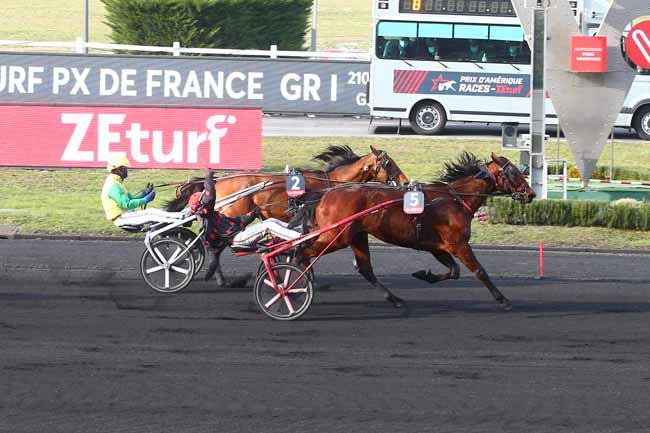 Photo d'arrivée de la course pmu PRIX D'AMERIQUE RACES ZETURF - PRIX DE FRANCE à PARIS-VINCENNES le Dimanche 14 février 2021
