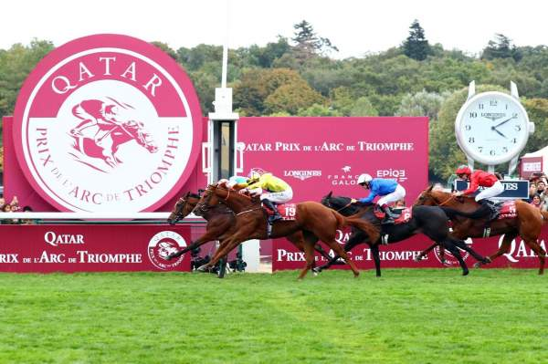 La photo de Enable Quinté+ PMU QATAR PRIX DE L\'ARC DE TRIOMPHE 2018 à Paris Longchamp