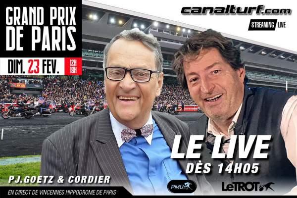 La photo de Le Live Du Grand Prix De Paris 2020 Dominique Cordier et PJ. Goetz