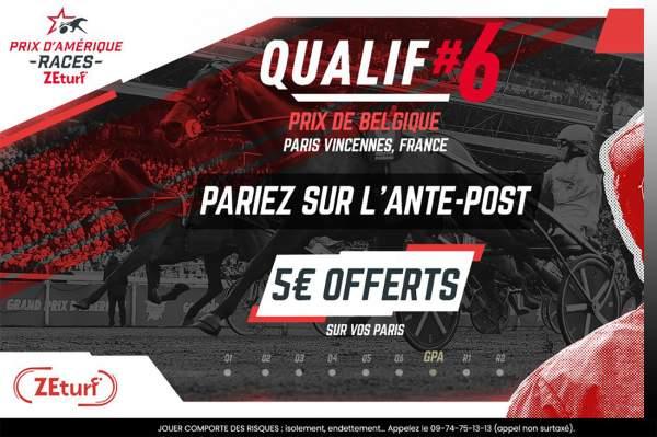 La photo de Ante-post Zeturf Qualif #6 Prix De Belgique Prix d'Amérique Races ZEturf 2021