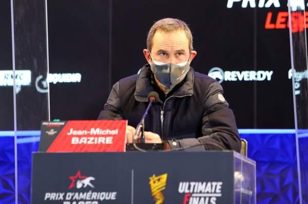 La photo de Jean-michel Bazire conférence de presse Grand Prix d'Amérique 2021 Hippodrome de Vincennes